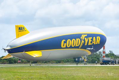 Goodyear Blimp Airship Flyover Pompano Beach FL