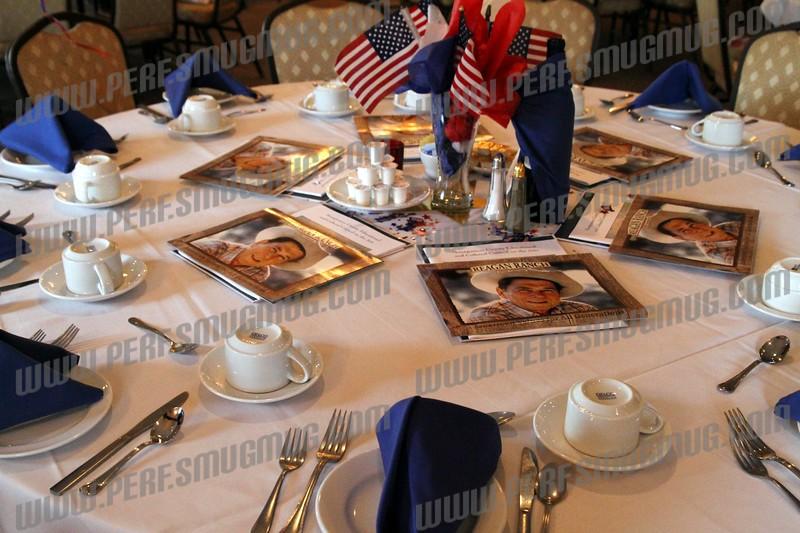 Table settings for the dinner