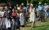 Reenactors take part in the Grand Fantastical Parade around the plantation grounds during the Goschenhoppen Historians' 48th annual Folk Festival on Friday August 8,2014. Photo by Mark C Psoras