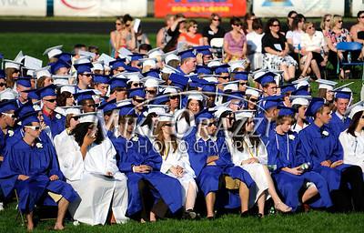 6/18/2010 Mike Orazzi | Staff Southington High School graduation on Fontana Field on Friday evening.