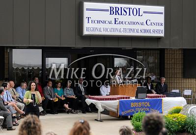 6/17/2010 Mike Orazzi | Staff State Senator Tom Colapietro the Bristol Tech graduation ceremony on Thursday morning.