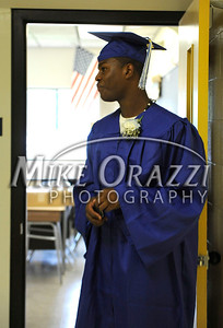 6/18/2010 Mike Orazzi | Staff Southington High School student Risby Drayton at Friday evening's graduation ceremony.