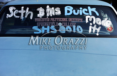 6/18/2010 Mike Orazzi | Staff I guess Seth and his Buick made it through Southington High School as seen by his car in the parking lot.