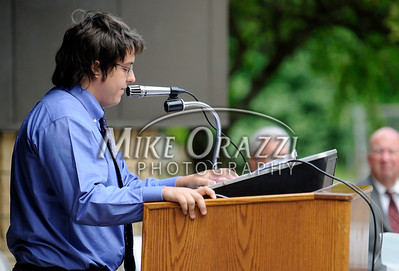 6/17/2010 Mike Orazzi | Staff Bristol Tech Student of the year Adam Schwartz during Thursday's graduation ceremony.