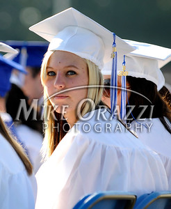 6/18/2010 Mike Orazzi | Staff Southington High School student Kelly Zienka at Friday evening's graduation ceremony.