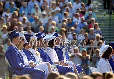 6/18/2010 Mike Orazzi | Staff Southington High School students at Friday evening's graduation ceremony.