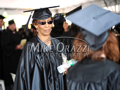 6/1/2011 Mike Orazzi | Staff Tunxis Community College graduate Bertha Burkes,77, during Wednesday night's graduation ceremony.