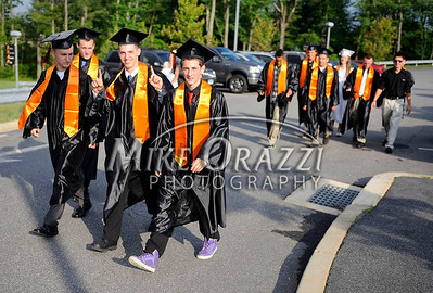 6/15/2011 Mike Orazzi | Staff Terryville High School Seniors walk into THS for the graduation ceremony on Wednesday night.