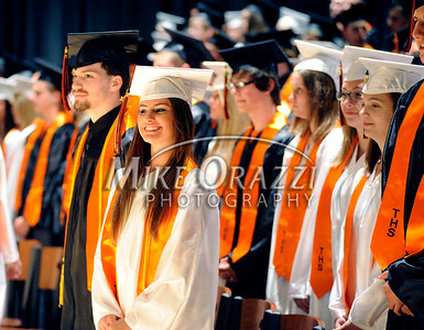 6/15/2011 Mike Orazzi Terryville High School graduate Aubrie Przybysz smiles while on stage during Wednesday night's graduation ceremony at THS.