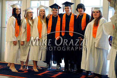 6/15/2011 Mike Orazzi | Staff Terryville High School Seniors pose before the start of the graduation ceremony on Wednesday night.