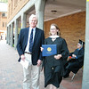 Professor Diehl and me.  He almost looks happy :D  I know I am happy that I finished.