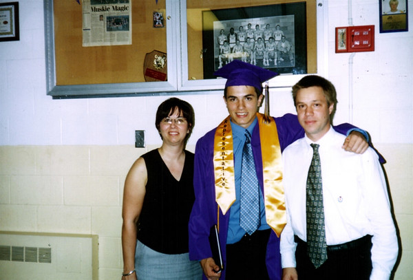 Lori, Cory and Todd at the school