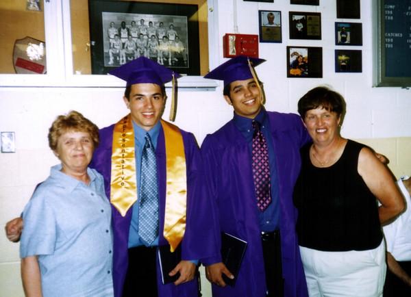 Kay, Cory, Shane and Janet at graduation