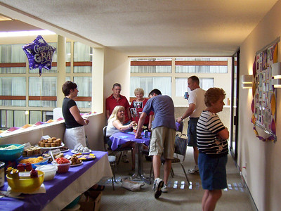 Lori, Mary, Marge and Al, Cory, Phil and Kay at the graduation party