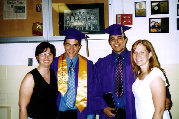 Lori, Cory, Shane and Patti at graduation