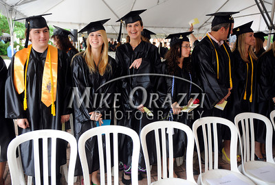 6/1/2012 Mike Orazzi | Staff Tunxis Community College graduates during the graduation ceremony on Friday night.