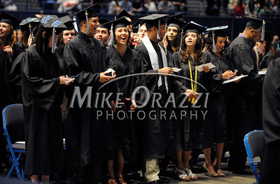 5/18/2013 Mike Orazzi | Staff Central Connecticut State University graduates at the XL Center in Hartford on Saturday.