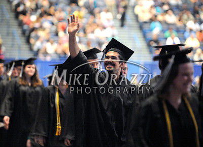 5/18/2013 Mike Orazzi | Staff Central Connecticut State University graduate Yavuz Ridvan Usivca at the XL Center in Hartford on Saturday.