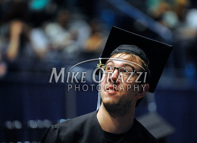 5/18/2013 Mike Orazzi | Staff Central Connecticut State University graduate Corey Fruin at the XL Center in Hartford on Saturday.