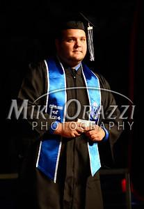 5/17/2014 Mike Orazzi | Staff CCSU Class President Matthew Hubbard during Saturday's graduation ceremony at the XL Center in Hartford.