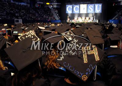 5/17/2014 Mike Orazzi | Staff CCSU's graduation ceremony at the XL Center in Hartford Saturday.