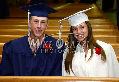 6/3/2014 Mike Orazzi | Staff St. Paul's Jake Kawiecki and Alyssa D'Agostino during Tuesday night's graduation ceremony at the Cathedral of St. Joseph in Hartford.