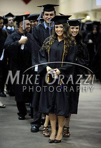 5/17/2014 Mike Orazzi | Staff CCSU student Paulina Chylinska is first in line for the School of Business during Saturday's graduation ceremony at the XL Center in Hartford.