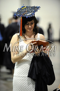 5/17/2014 Mike Orazzi | Staff CCSU student Kate Bingham during Saturday's graduation ceremony at the XL Center in Hartford.