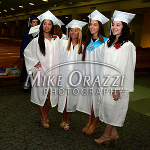 6/3/2014 Mike Orazzi | Staff St. Paul's Daniela Cadavid, Ann Marie Gibney, Arlene Flannery and Marisa Mastrio during Tuesday night's graduation ceremony at the Cathedral of St. Joseph in Hartford.