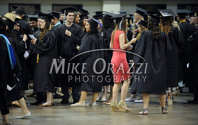 5/17/2014 Mike Orazzi | Staff CCSU students line up during Saturday's graduation ceremony at the XL Center in Hartford.