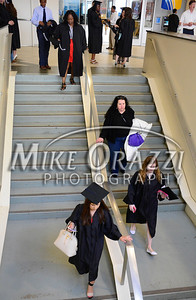 5/17/2014 Mike Orazzi | Staff CCSU students move to the lower level during Saturday's graduation ceremony at the XL Center in Hartford.