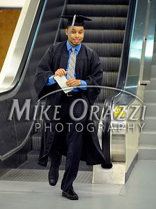 5/17/2014 Mike Orazzi | Staff CCSU student Isaiah Scales during Saturday's graduation ceremony at the XL Center in Hartford.