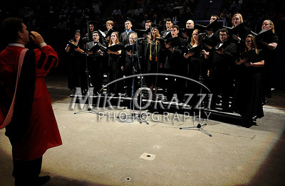 5/17/2014 Mike Orazzi | Staff The University Singers during CCSU's graduation ceremony at the XL Center in Hartford Saturday.