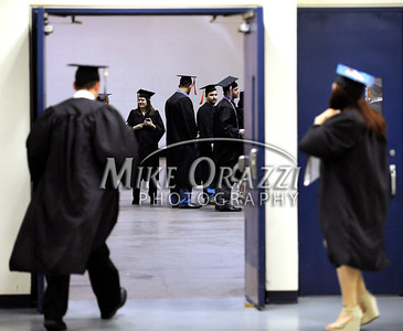 5/17/2014 Mike Orazzi | Staff CCSU students during Saturday's graduation ceremony at the XL Center in Hartford.