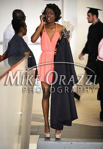 5/17/2014 Mike Orazzi | Staff CCSU student Jasmine Pieters during Saturday's graduation ceremony at the XL Center in Hartford.