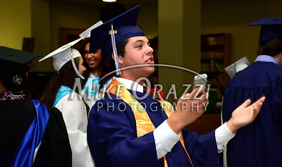 6/3/2014 Mike Orazzi | Staff St. Paul's Keith Pomposi during Tuesday night's graduation ceremony at the Cathedral of St. Joseph in Hartford.