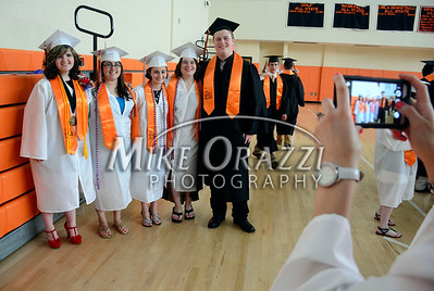 6/18/2014 Mike Orazzi | Staff Terryville High School graduates before the start of Wednesday night's graduation ceremony at THS.