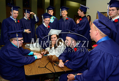 6/3/2014 Mike Orazzi | Staff St. Paul's graduates during Tuesday night's graduation ceremony at the Cathedral of St. Joseph in Hartford.