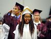 "6/18/2015 Mike Orazzi | Staff<br /> Katherine Clarke Britt ""KC"" at the Bristol Central graduation Thursday night."