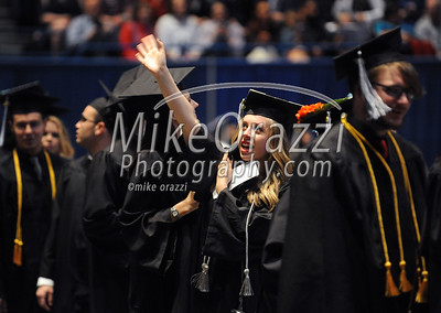 5/20/2017 Mike Orazzi | Staff Mallory Jones at the XL Center in Hartford for CCSU's graduation Saturday morning.