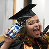 5/25/2017 Mike Orazzi | Staff<br /> Tunxis Community College graduates Sharri Mendez shows off her selfie at the Forty-sixth Commencement Thursday evening in Farmington.