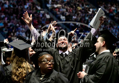 5/20/2017 Mike Orazzi | Staff Richard Daley at the XL Center in Hartford for CCSU's graduation Saturday morning.