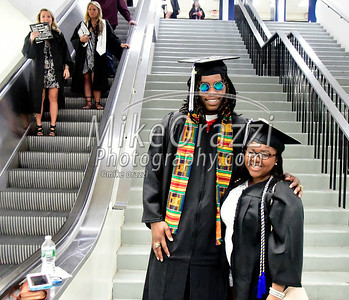 5/20/2017 Mike Orazzi | Staff Malcolm Simmons and Stephanie Fluker while at CCSU's graduation Saturday morning at the XL Center in Hartford.