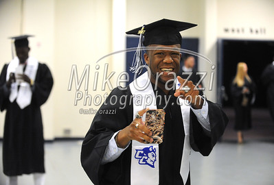 5/20/2017 Mike Orazzi | Staff Kwency Crittenden while at CCSU's graduation Saturday morning at the XL Center in Hartford.