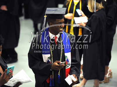 5/20/2017 Mike Orazzi | Staff Moise Bence while at CCSU's graduation Saturday morning at the XL Center in Hartford.