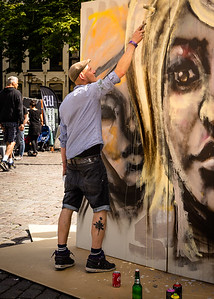 Graffiti artist at work!