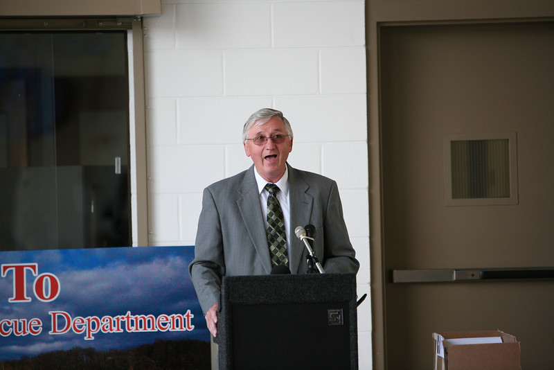 Elliston Volunteer Fire Department Grand Opening - Montgomery County Board of Supervisors, Gary Creed