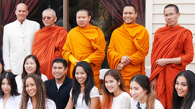 The cameras came out from everyone as soon as I asked the monks to line up.  Even one of the monks asked my to use his camera to snap a few of the gang.