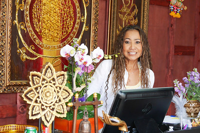 George's wife Pui at the front desk.  Don't stress, it's only the first day.