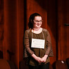 Special to the Record-Eagle/ Keith King<br /> Autumn Reeves smiles after winning the 2018 Grand Traverse Regional Spelling Bee Sunday at the State Theatre in Traverse City.
